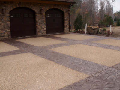 Brown Exposed Aggregate